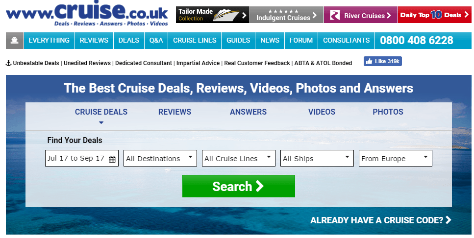 cruise travel domain names